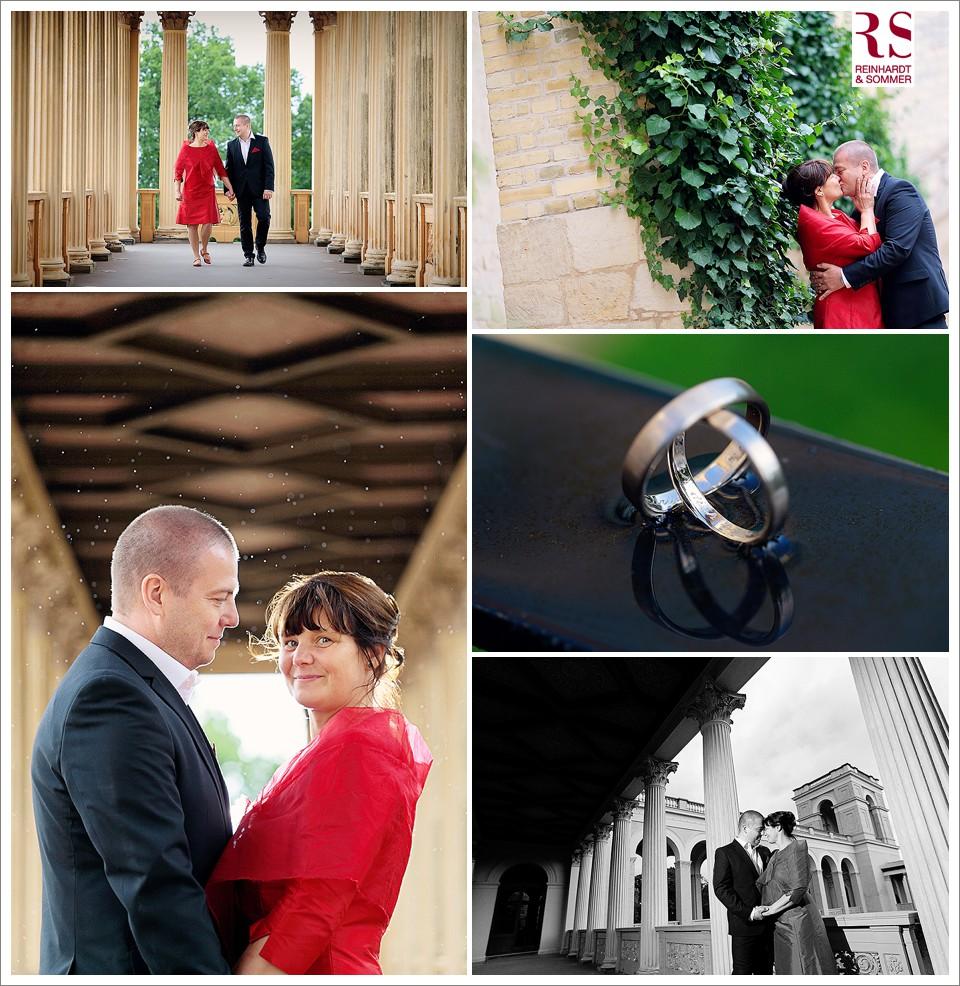 Hochzeit auf dem Belvedere bei regnerischem Wetter