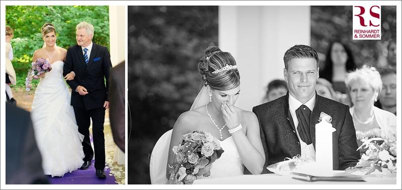Einzug der Braut und Reaktionen auf die Traurede