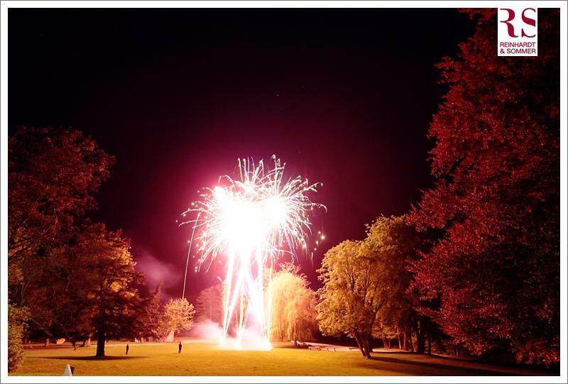 Feuerwerk bei einer Hochzeit auf Schloss Boitzenburg