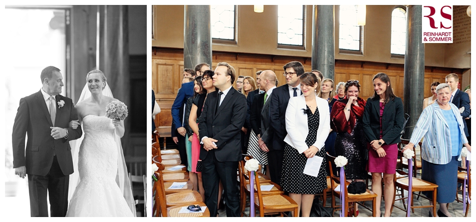 Einzug der Braut in die Friedenskirche Potsdam in Hochzeitsfotos von Reinhardt & Sommer