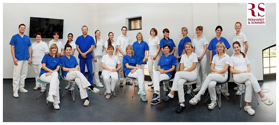 Fotos der Praxis sowie der Mitarbeiter Dr. Wermann Potsdam von Reinhardt & Sommer