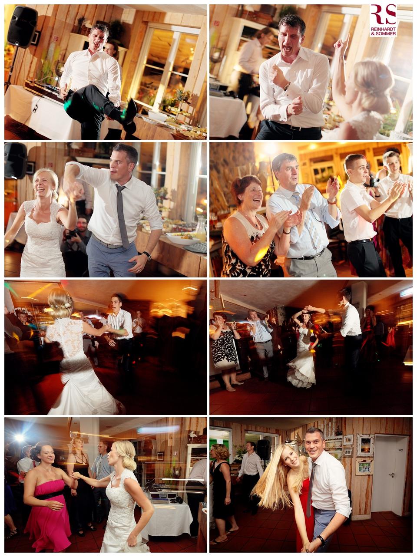 Partystimmung auf der Hochzeitsfeier