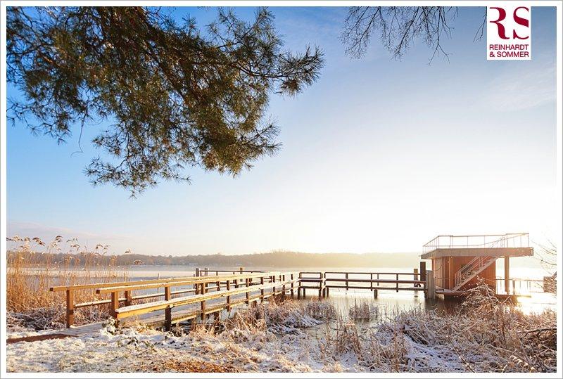 Die winterliche Seesauna des Inselhotels im morgendlichen Glanz!