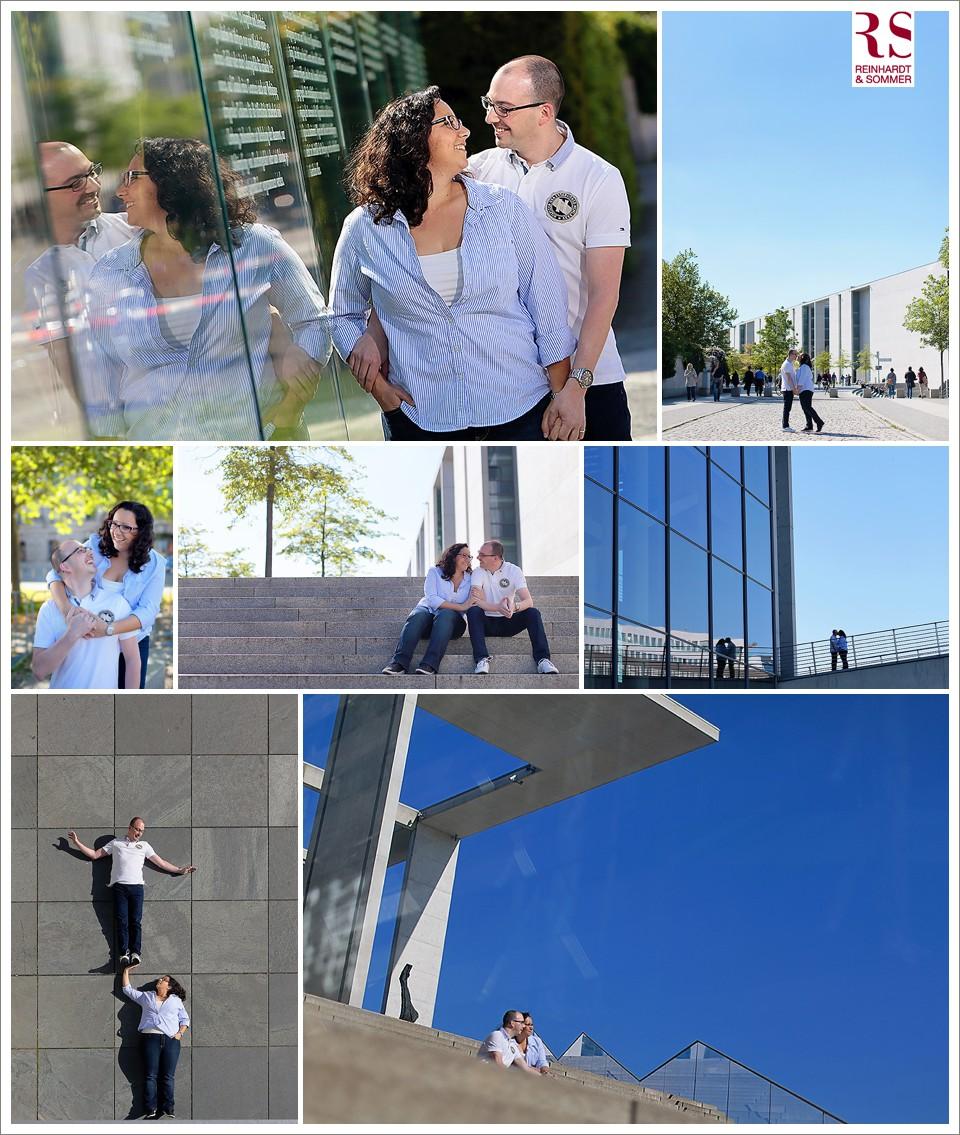 Verlobungsfotos einer Hochzeit im Regierungsviertel in Berlin
