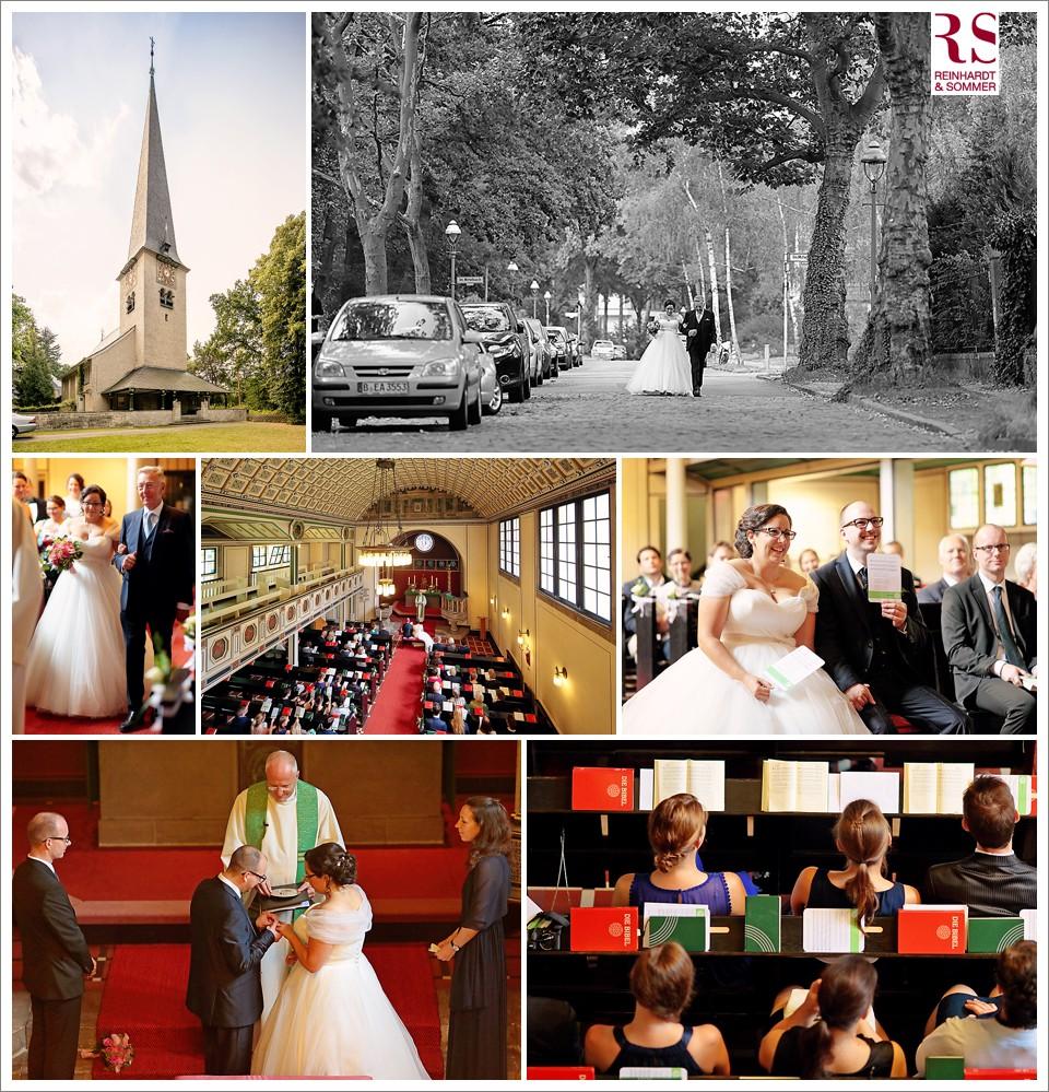 Kirchliche Trauung der Hochzeit in Berlin Wannsee