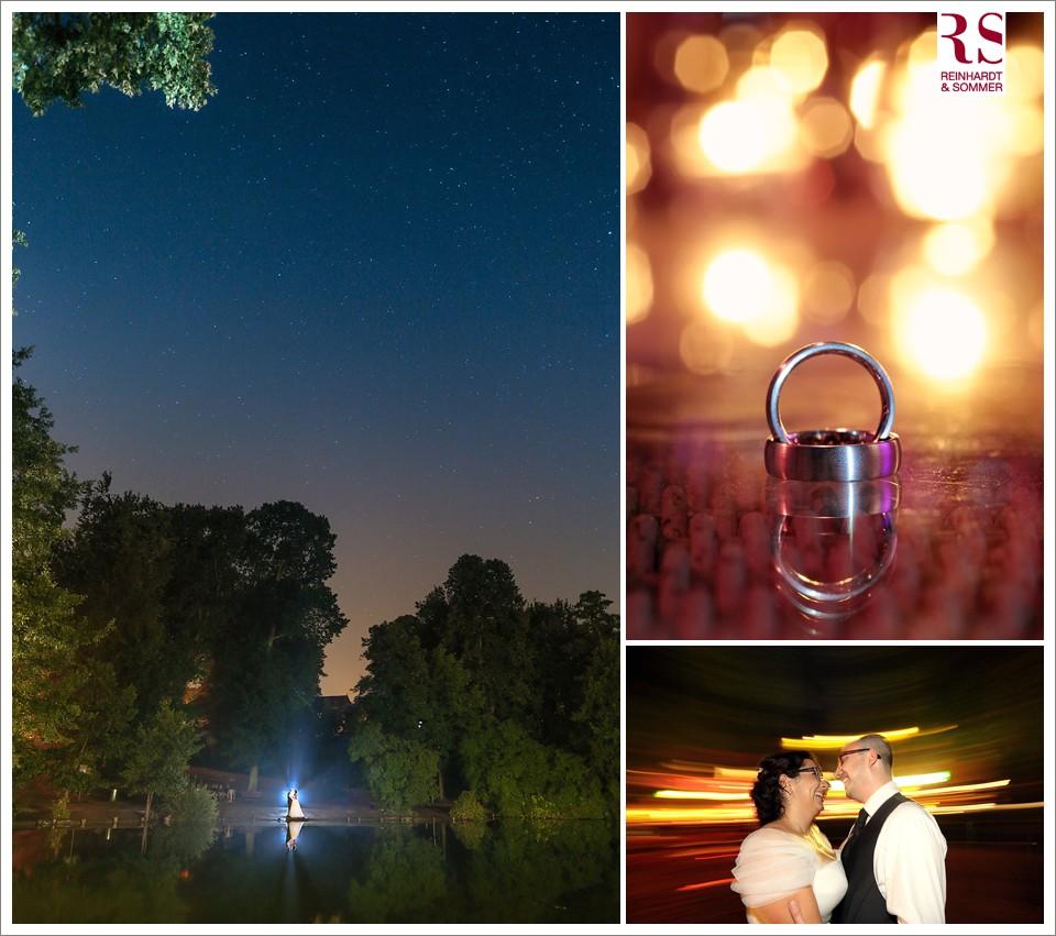 Hochzeitsfotos unter Sternenhimmel am Schlachtensee Berlin