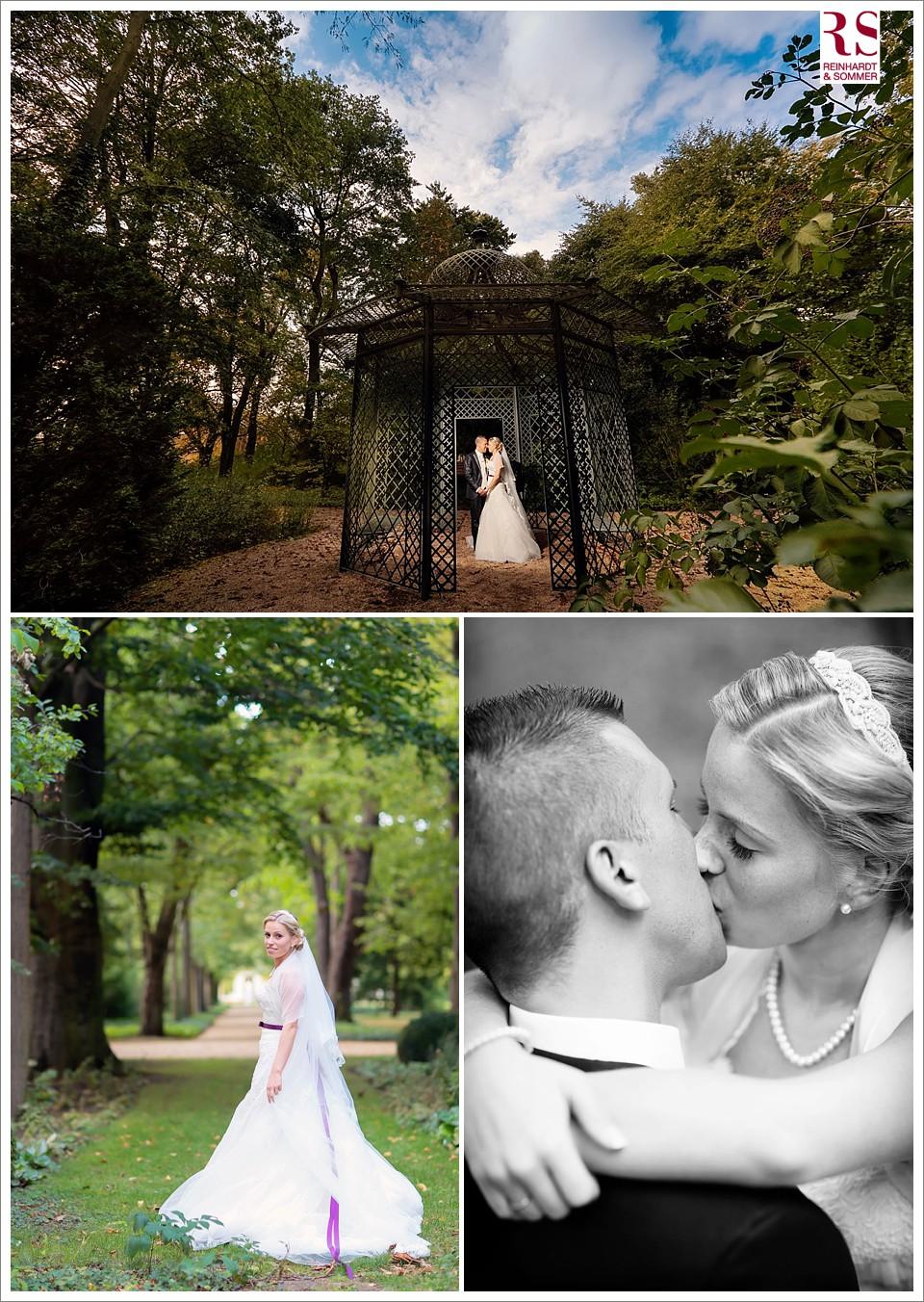 Hochzeitsfotos im Schlossgarten von Schloss Britz