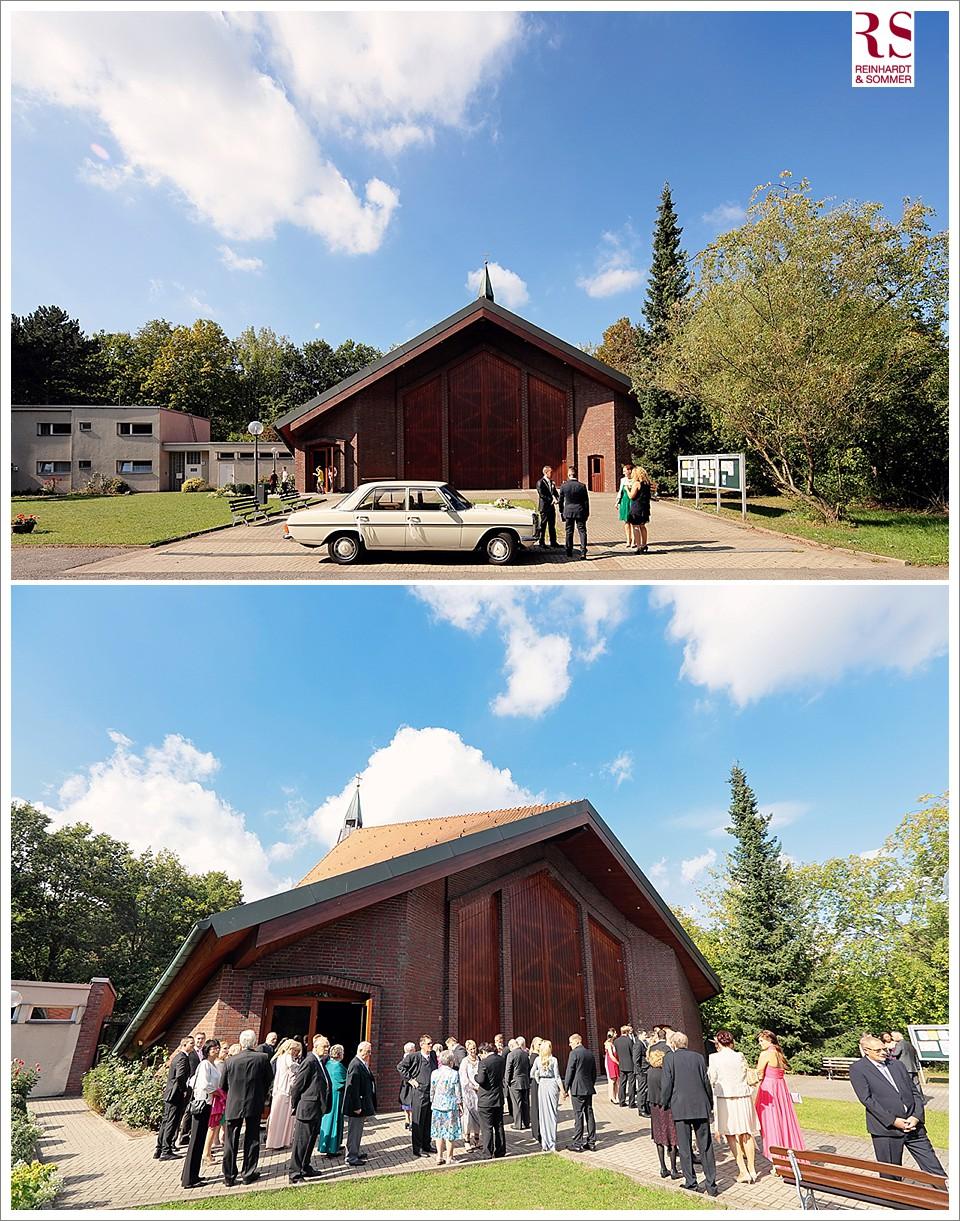 Trauung einer Hochzeit in der Kirche in Britz