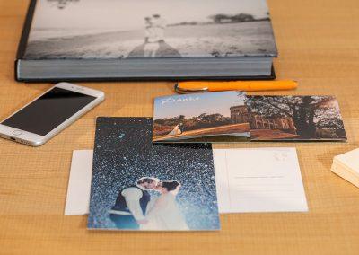 Danksagungskarte als Riesenpostkarte für wunderschöne Hochzeitsfotos von Reinhardt und Sommer, Hochzeitsfotografen für Potsdam und Brandenburg