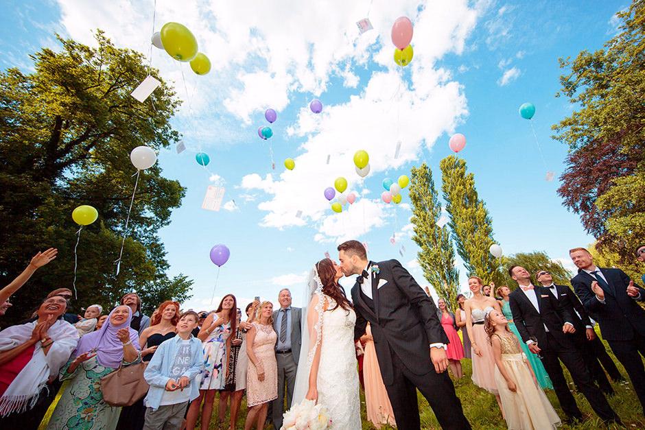 Ballons auf Hochzeiten