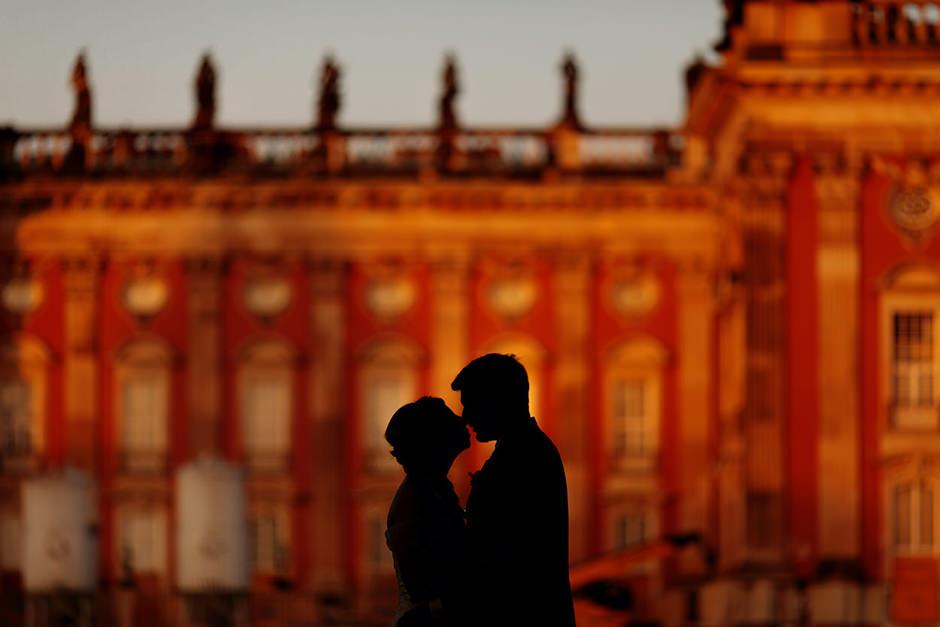 Sonnenuntergang am Neuen Palais