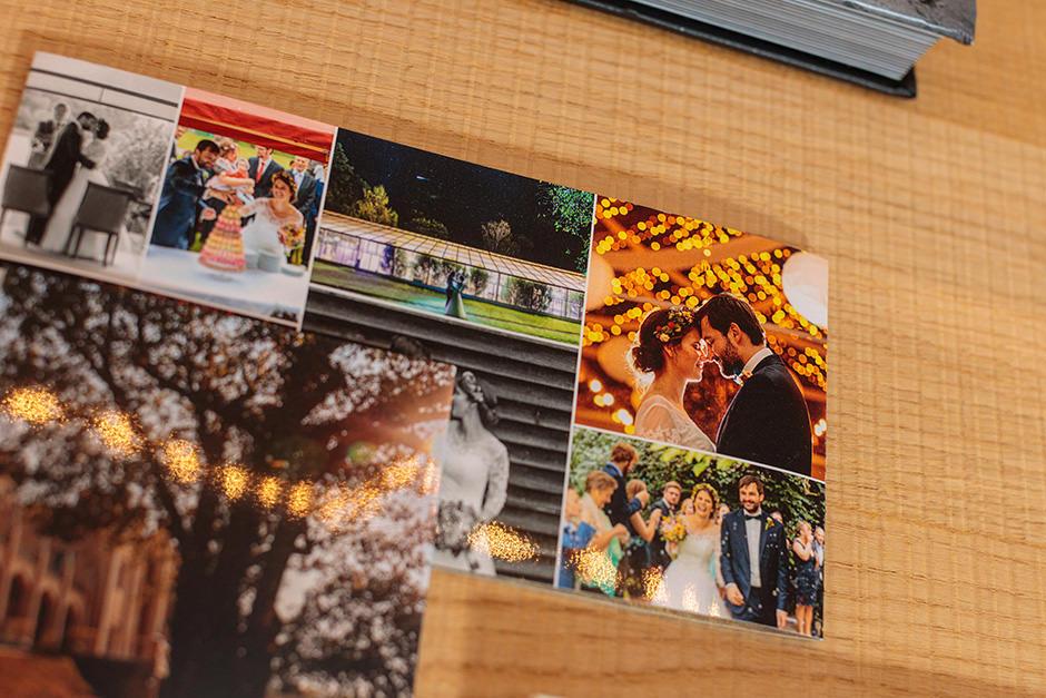 Hochzeit Danksagungskarte mit Hochzeitsfotos