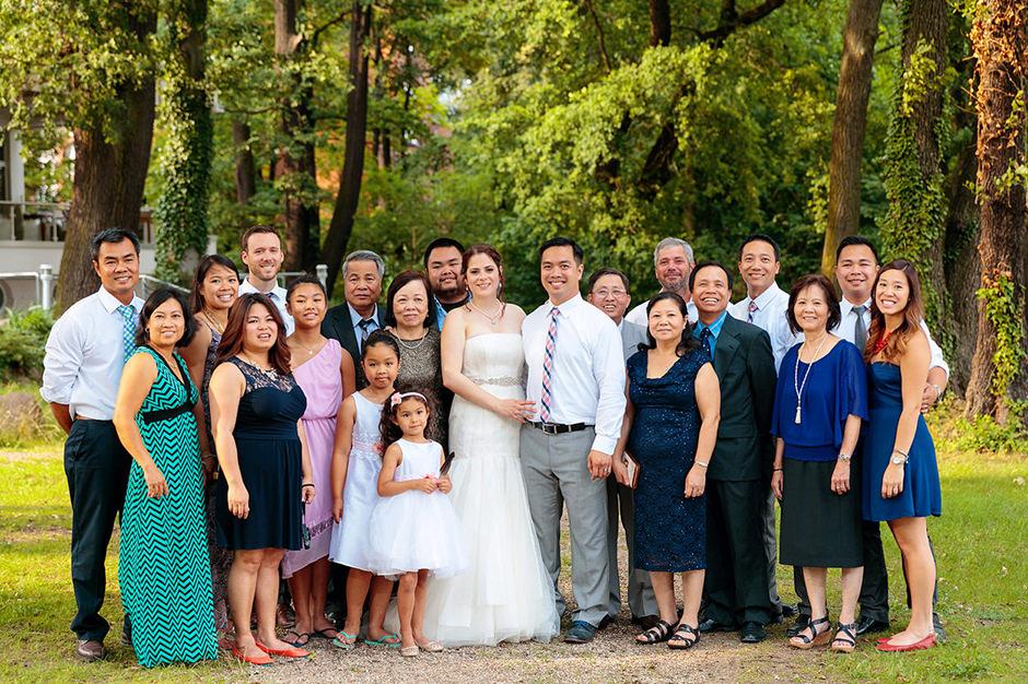 Familienfoto auf Hochzeiten