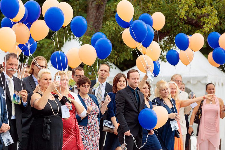 Hochzeitsballons in der Villa Blumenfisch