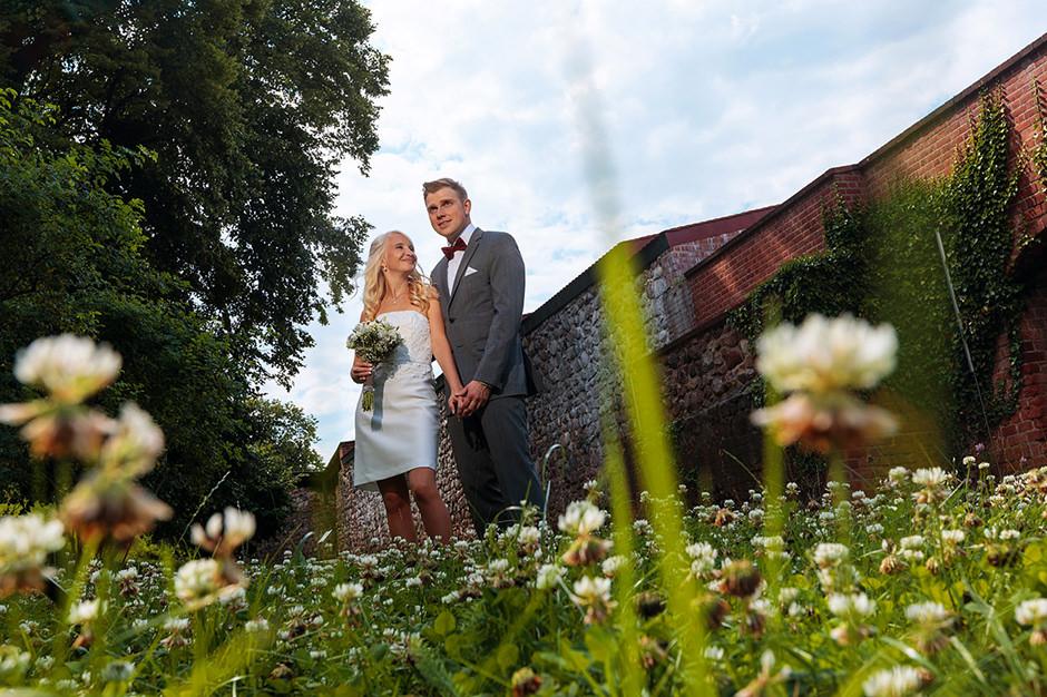 Hochzeitsfotos auf der Burg Bad Belzig