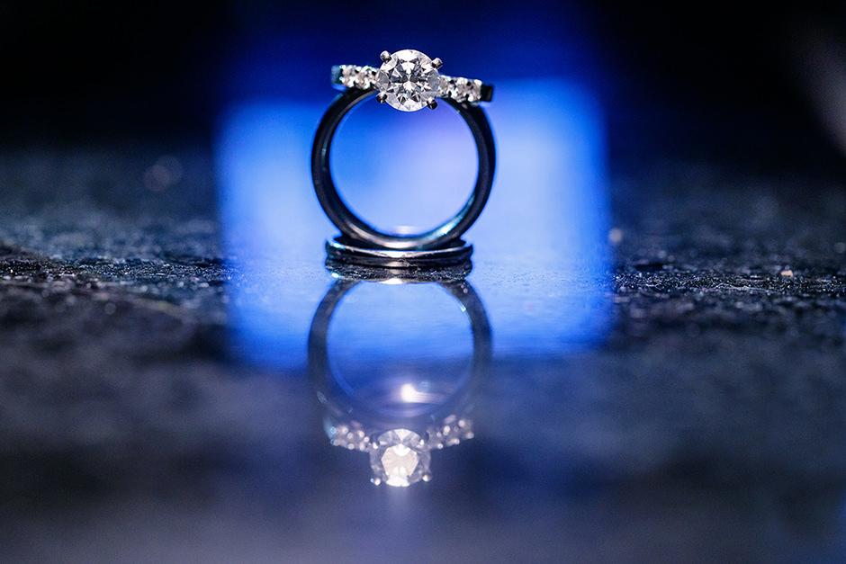 Verlobungsring und Trauringe