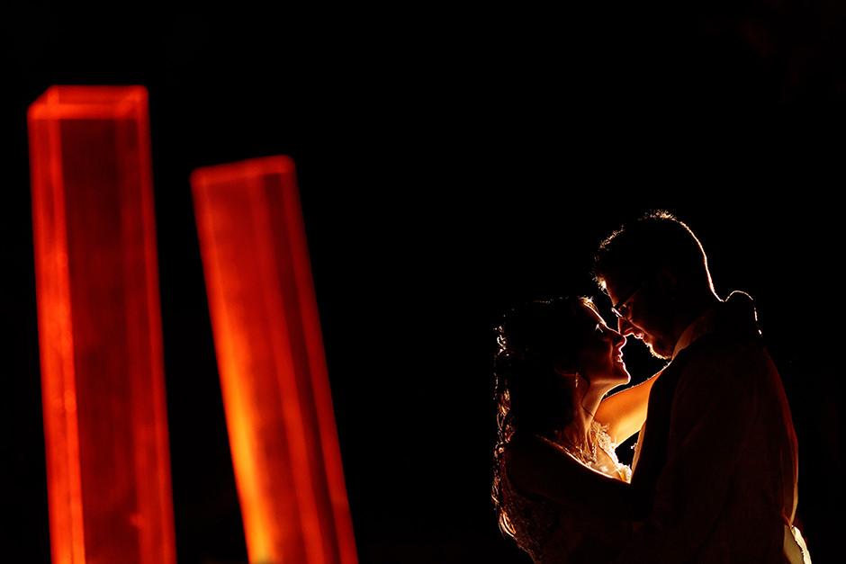 Brautpaarfotos in der Nacht