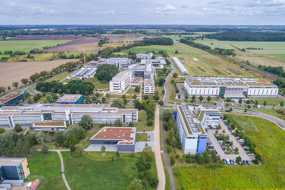 Drohnenfoto des Wissenschaftsparks in Potsdam