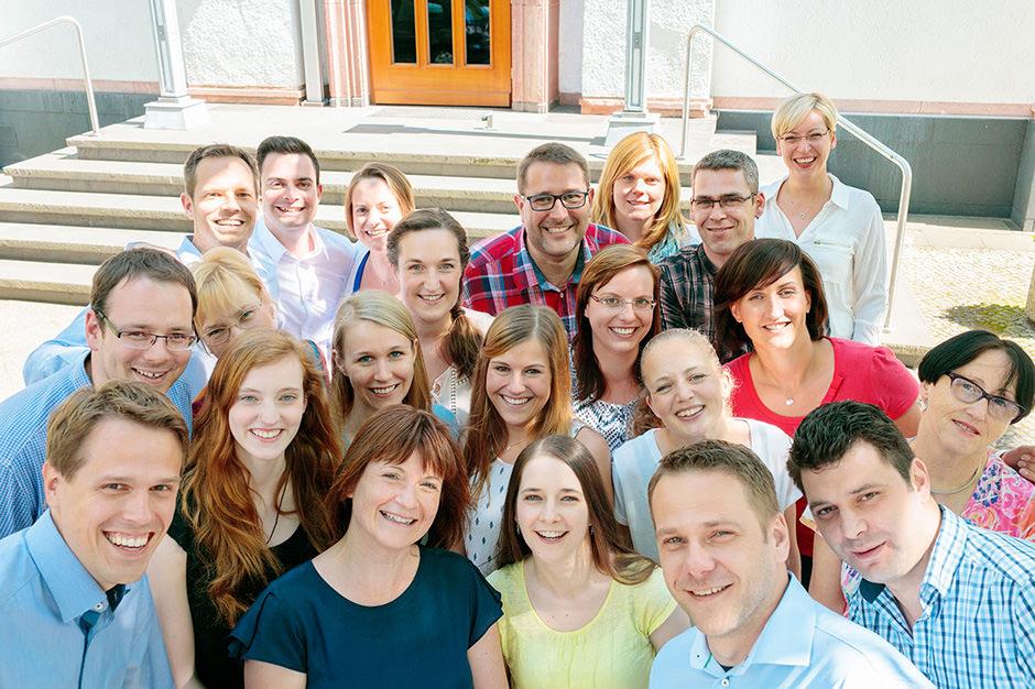 Belegschaftsfoto eines Unternehmens in Berlin