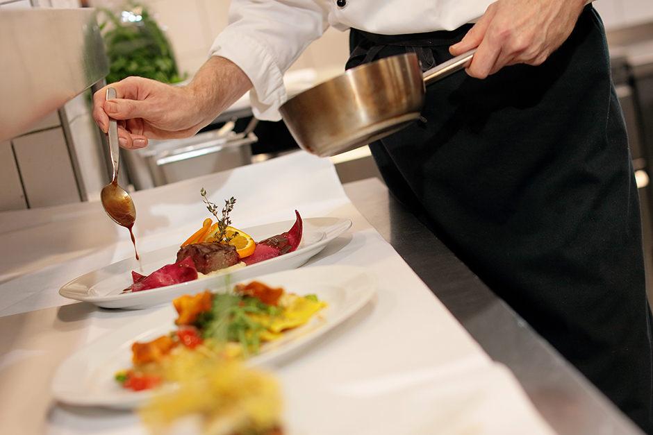 Foto in der Küche eines Hotels in Potsdam