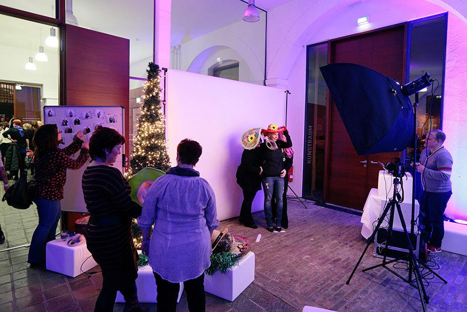 Photobooth auf Firmen Weihnachtsfeier in Potsdam
