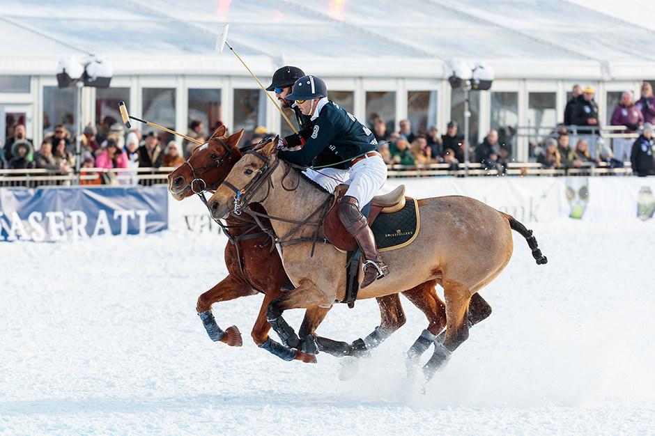 Poloponies bei einem Snowpolo Turnier in Kitzbühel