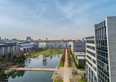Architekturfoto mit Drohne in Potsdam