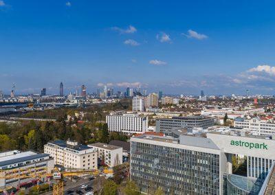 Immobilienfoto aus der Luft mit einer Drohne in Frankfurt Main