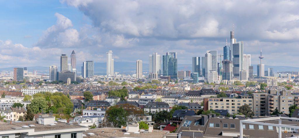 Panoramafoto der Skyline von Frankfurt/Main