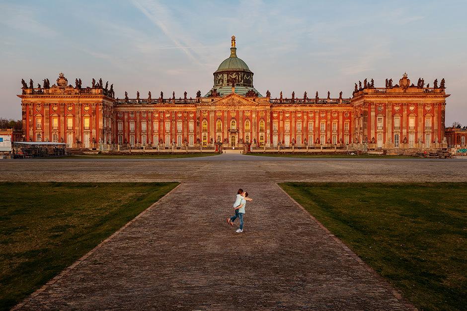Verlobungsshooting am Neuen Palais Potsdam