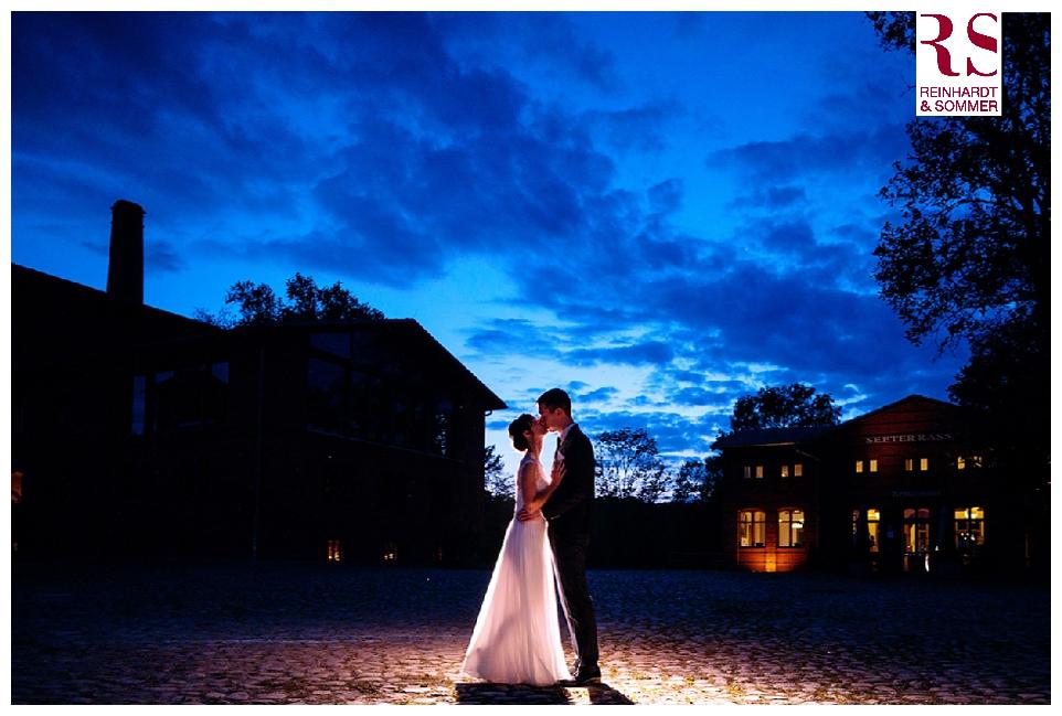 Blaue Stunde; Hochzeitsfotos