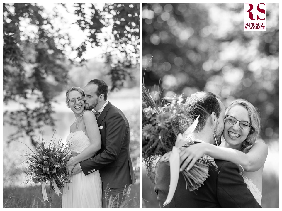 emotionale Hochzeitsfotos in schwarz-weiß Bildern