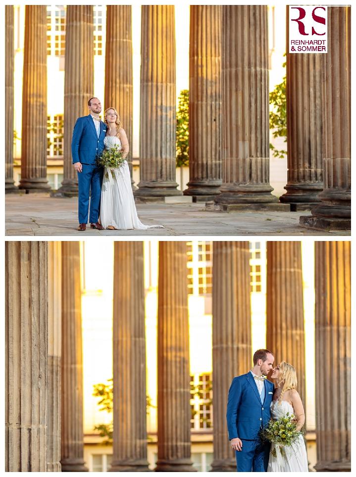 Hochzeitsfotos im Sonnenuntergang