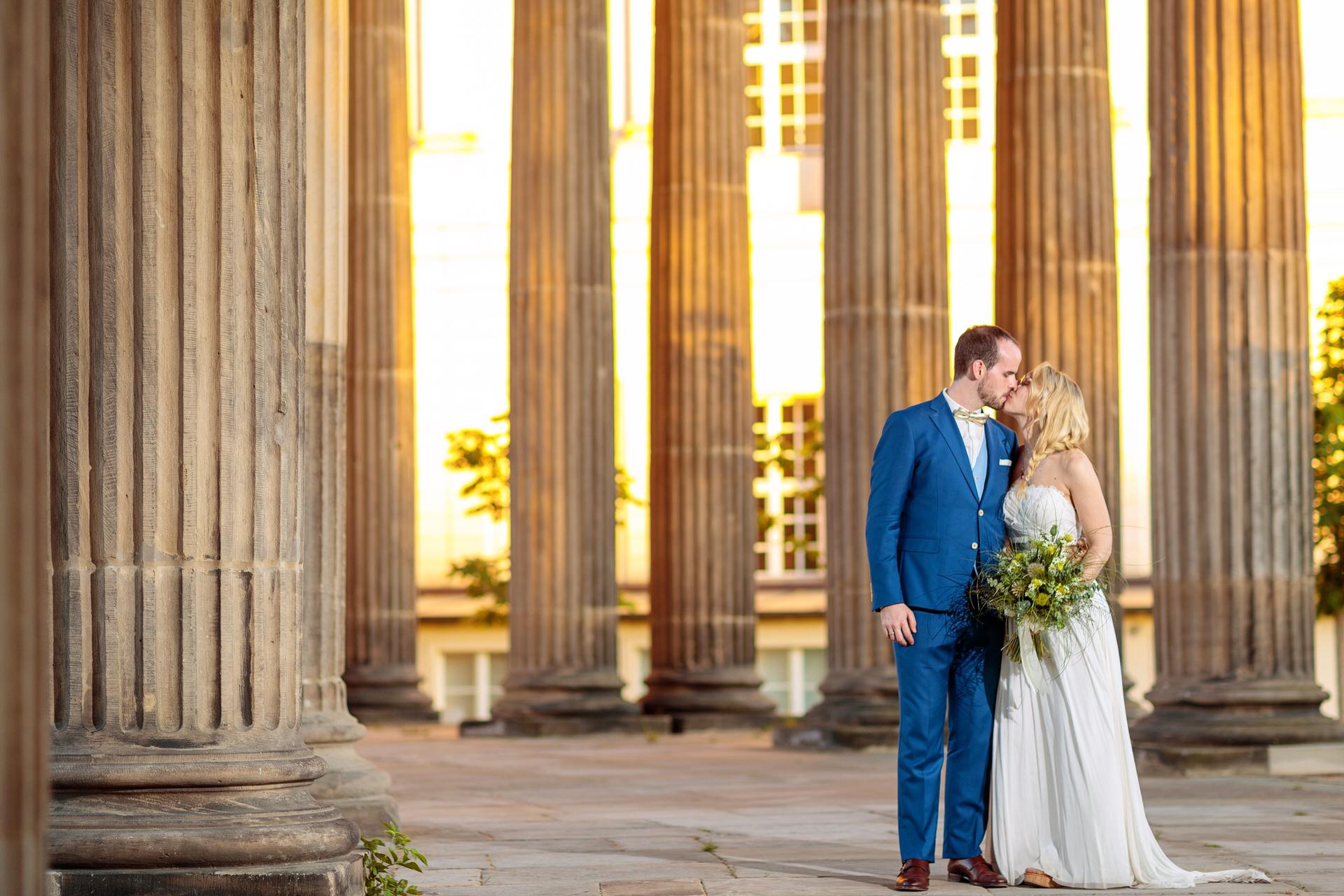 Eine Hochzeit im BlauArt Tagungshaus mit Hochzeitsfotos am Neuen Palais in Potsdam
