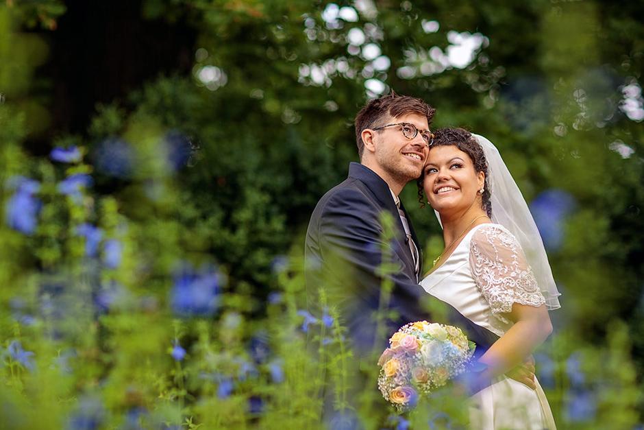 Hochzeitsfoto auf der Pfaueninsel