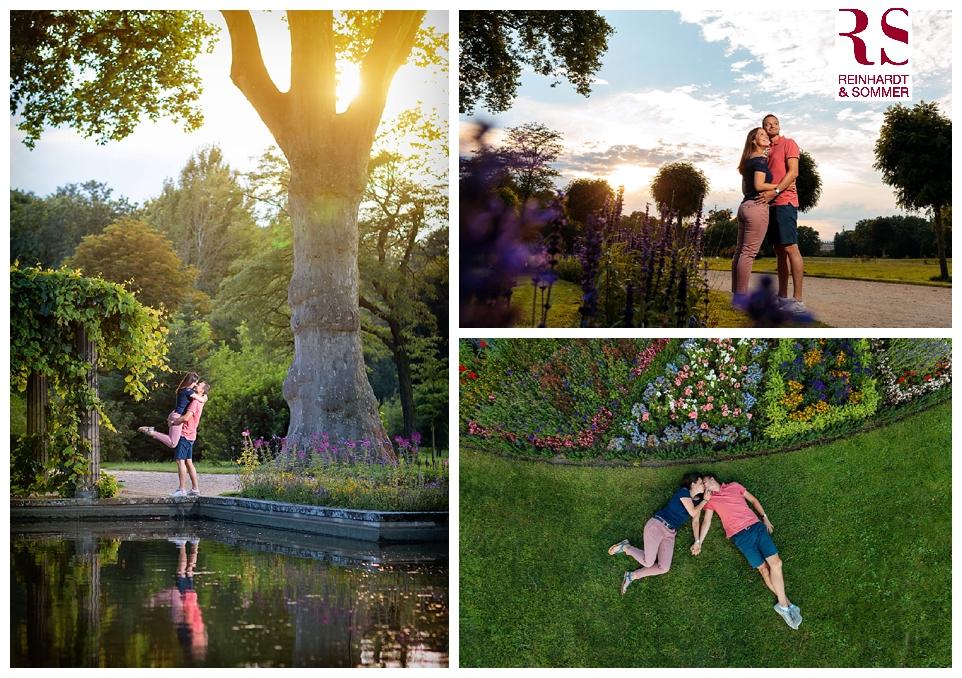 Bilder vom Verlobungsshooting im Park Sanssouci