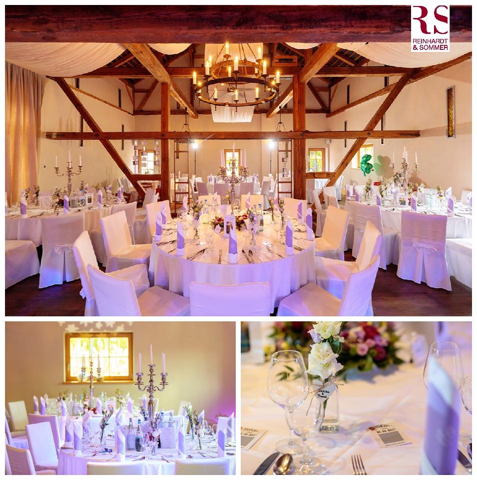 Der Raum der Hochzeitsfeier