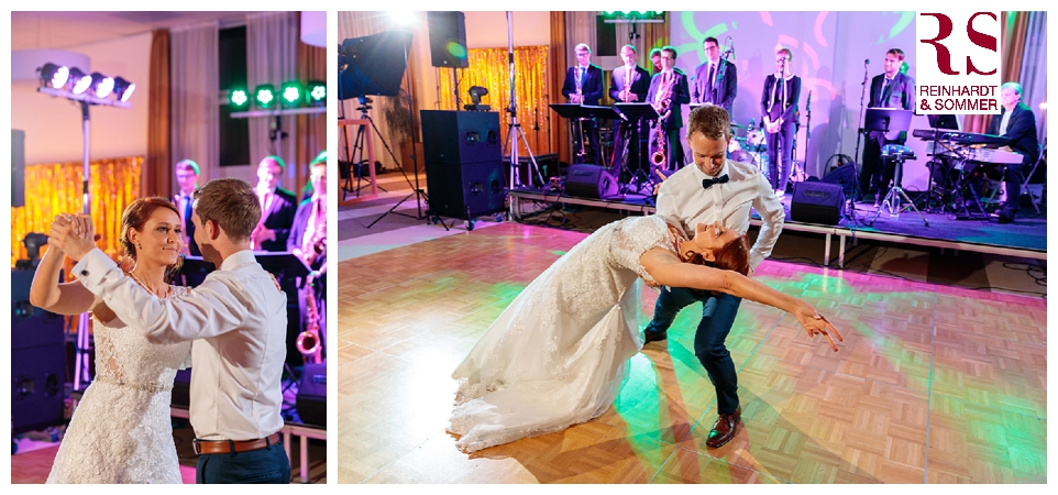 Der erste Tanz des frisch vermählten Brautpaars