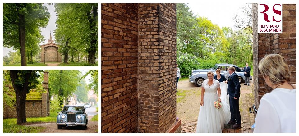 Ankunft der Braut an der Dorfkirche Petzow