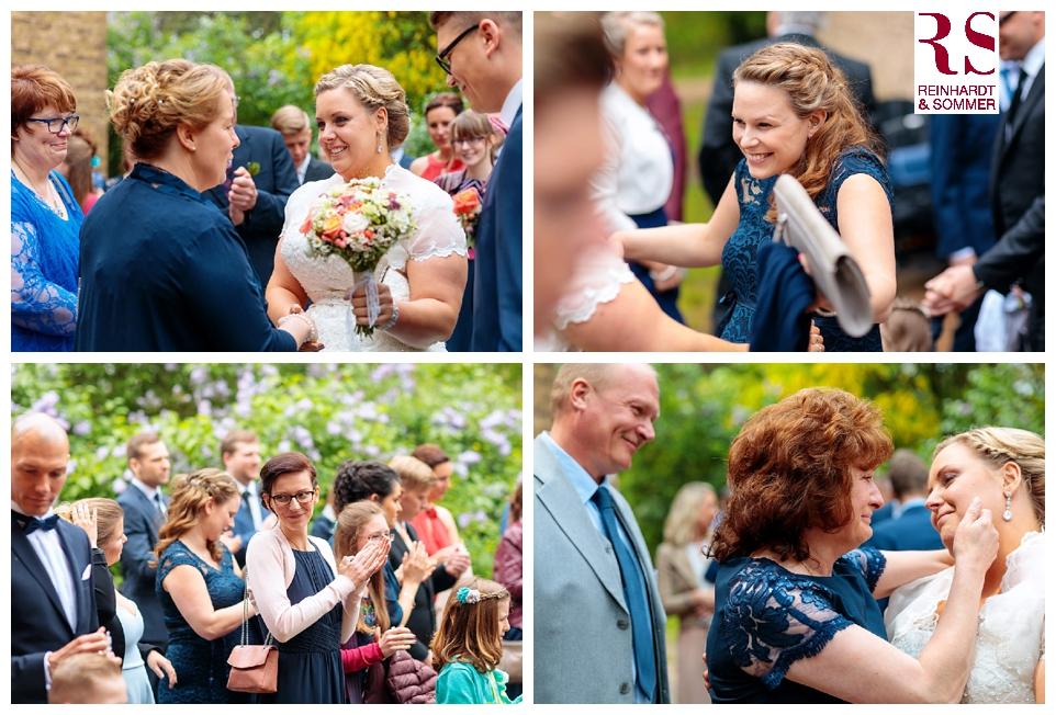 Gratulation des Brautpaares