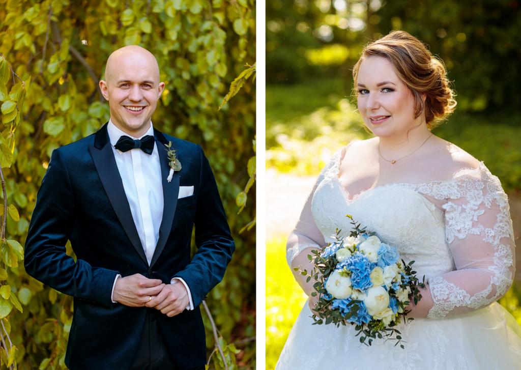 Braut und Bräutigam im Park Jagdschloss Glienicke