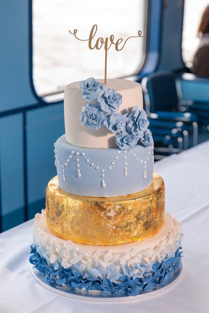 Die Hochzeitstorte des Brautpaares von der Patisserie Brahmstädts