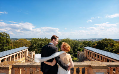 Romantik Hochzeit im Belvedere auf dem Pfingstberg