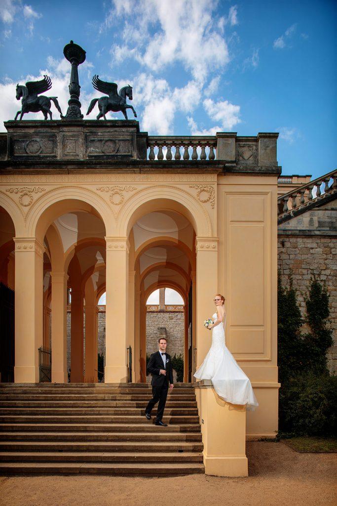 Wundervolle Architektur für tolle Aufnahmen zur Hochzeit