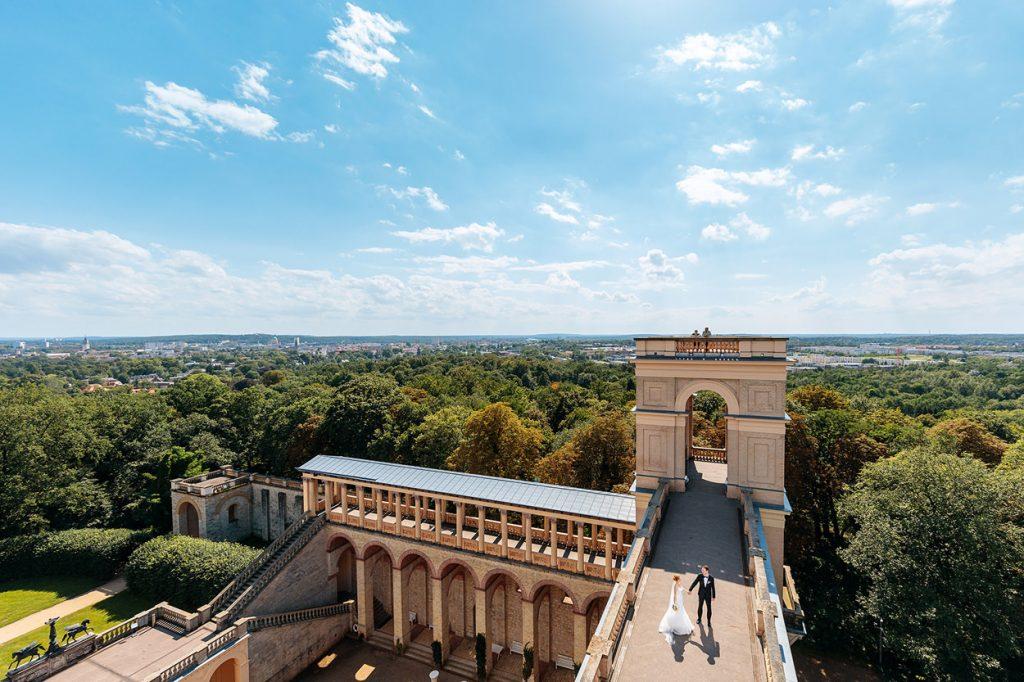 Hochzeitspaar auf dem Belvedere Potsdam