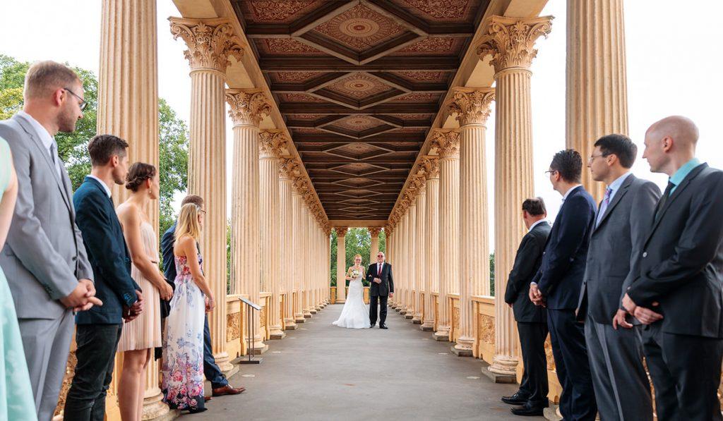 Der Gang zum Maurischen Kabinett im Belvedere auf dem Pfingstberg in Potsdam