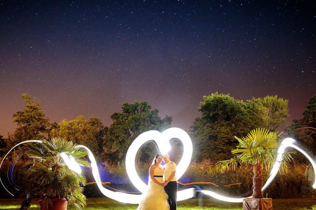 Hochzeitsfotos unter dem Sternenhimmel