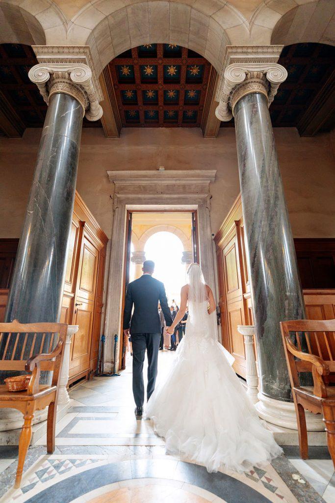 Auszug des Brautpaares aus der Friedenskirche Potsdam
