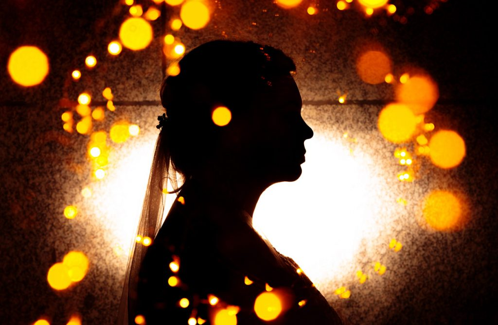 Die Silhouette der Braut