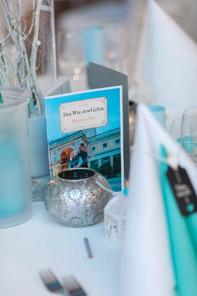 Details der Hochzeitsdekoration im Kongress Hotel Potsdam